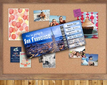Ticket to San Francisco...Boarding Pass...Gift, Surprise show them you care.