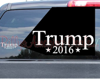 Trump 2016 For President with Stars Donald Vinyl Bumper Sticker Decal. Free Fast Shipping! Car, Truck, Boat, Republican Party, Window
