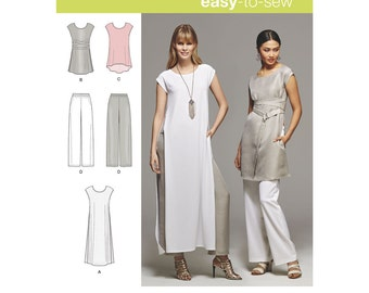 Simplicity Sewing Pattern 8138 Misses' Easy-to-Sew Tunics and Pull-on Pants