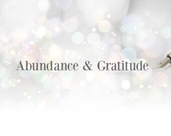 Abundance & Gratitude Expressive Writing Journal Prompts - PDF Instant Download