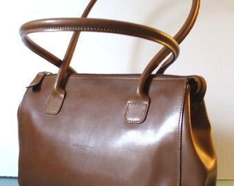 Nannini Made in Italy Cocoa Leather Tote Bag