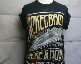 Nickleback 2012, Hand Bleached, second hand Tshirt!