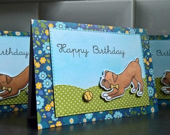Dog Lover Gift Card Holder, Boxer Gift Card Envelope, Happy Birthday Card, Money Holder Card, Boxer Birthday Card