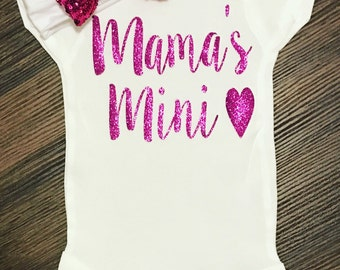 Mama's Mini | Mama's Mini Bodysuit | Mama's Mini Shirt | Mama's Girl Shirt | Mama's Mini Me | I Love My Mama Shirt | Baby Shower Gift
