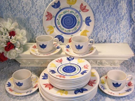 Like this item? & English EIT Tulip Ironstone Dinnerware Set Staffordshire