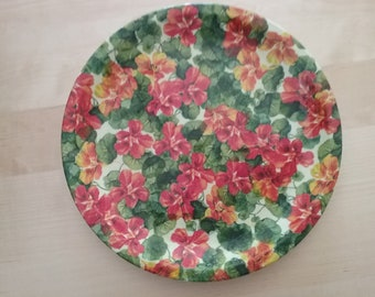 Dish Ceramic geraniums
