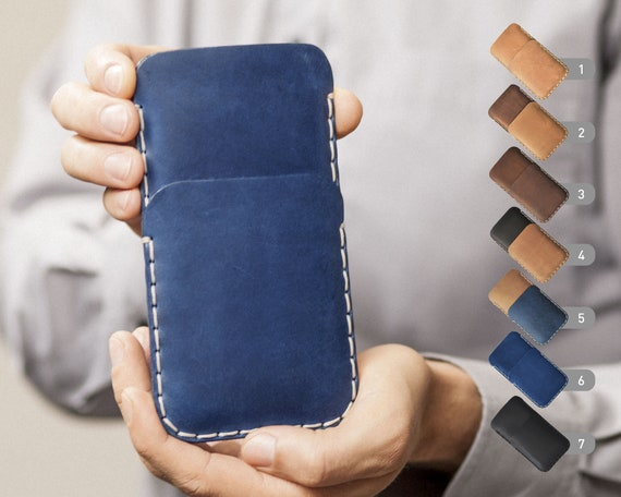 iPhone X 8 7 SE 6/6S Plus 5/5S 4/4S Cover Case Wallet Genuine Waxed Leather Sleeve Rough Style Pouch Shell Credit Card Holder Custom Sizes