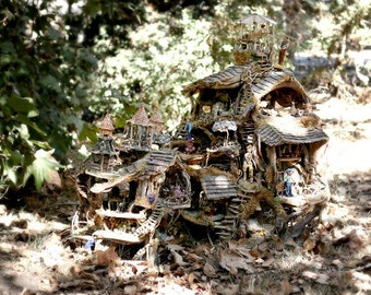 """Downloadable digital print, """"The Fairy Houses in the Forest"""""""