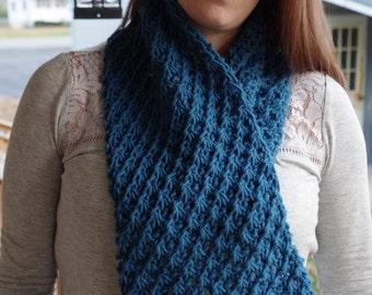 Warm Cowl Daisy - knitting pattern