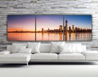 Sunset on New York City Canvas Art, Large Canvas Wall Art, New York Print, New York Skyline, New York Photo, art, New York Wall Art