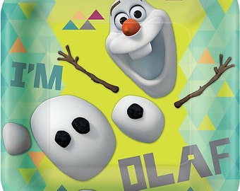 Frozen ''Olaf '' Lunch Square Paper Plates 8ct