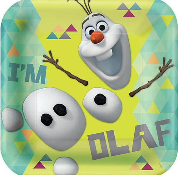 Frozen u201dOlaf u201d Lunch Square Paper Plates 8ct  sc 1 st  Birthday Party Themes & Frozen Paper Plates | Birthday Wikii