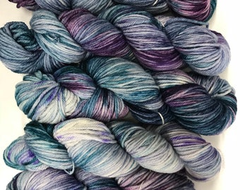 Hand dyed yarn/ misty morning