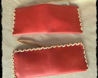 Coral Calfskin Wallet Set