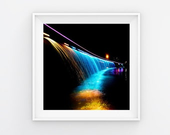 Light By Side River Print