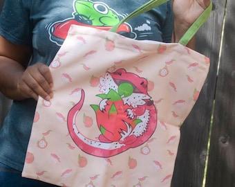 Bearded Dragonfruit Zipper Tote Bag