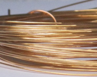 Gold Plated Jewelry Wire -- 22 gauge   (Qty 8 ft)    65-109