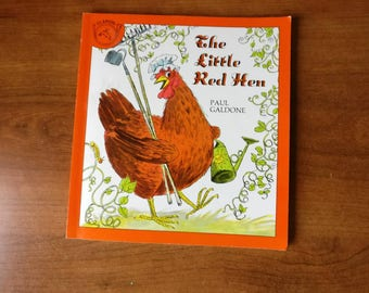 The Little Red Hen by Paul Galdone printed by Claion books vintage classic children's book 1973