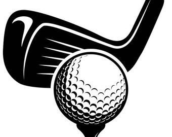 Golf Ball Tee Golfer Golfing Clubs Sports Svg Eps Png