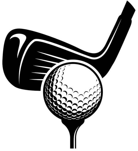 golf logo 6 tournament clubs iron wood golfer golfing sport rh etsy com golf clubs pictures clip art golf clubs clip art free