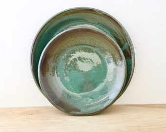 Handmade Pottery Dishes, Wedding Registry, Ceramic Plates, Pottery Registry,  Place setting