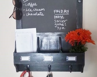 Custom Handcrafted Chalkboard Organizer - You choose your color & finish!