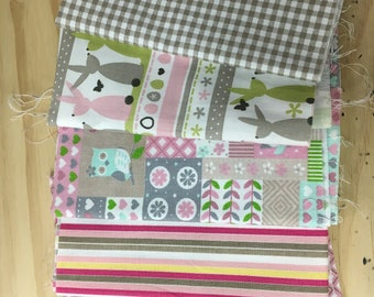Set of 5 coupons for your pink patchwork