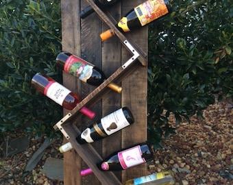 Rustic Wine Rack,Personalized wine rack,housewarming gift,Wedding Gift,mothers day gift,birthday gift,fathers day gift,christmas gift