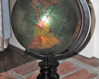 """8"""" Green Metallic Globe on Stand"""