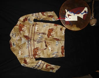 Little boy's ribbon shirt suitable for dance, pow wow or ceremony