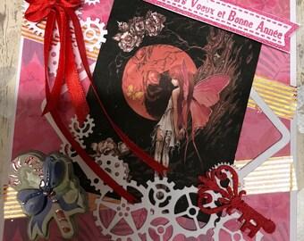 Card Noël Un Elf and the Moon