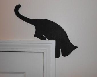Wood Cat Door Topper (four poses)