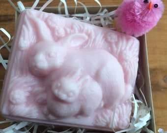 Two Bunnies Pink Soap