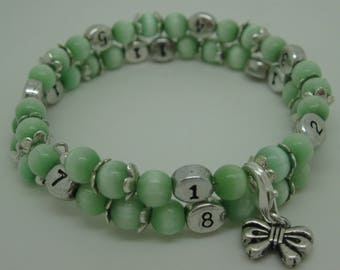 Nursing baby green treasure bracelet