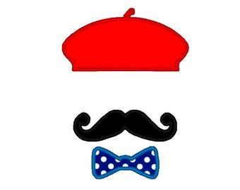 beret with applique etsy rh etsy com Paris Clip Art 50s Glasses Clip Art