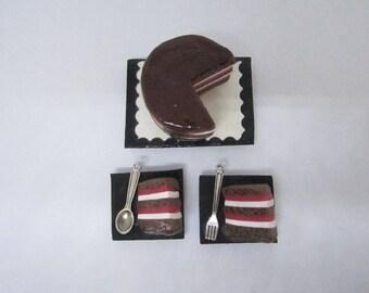 Chocolate Cake Magnet Set