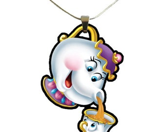 Beauty and the Beast Mrs Potts and Chip Necklace