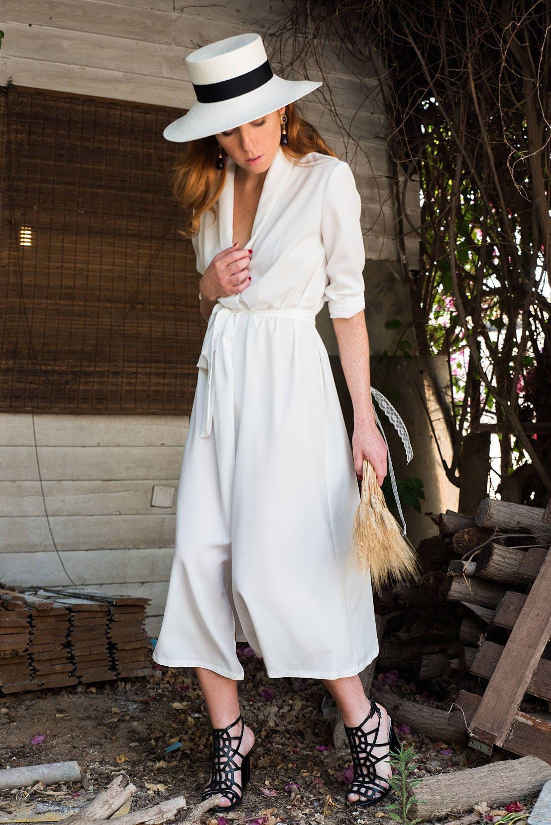 Böhmische Brautkleid weißes Kleid Boho Brautkleid