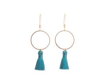 Everyday earrings tassel earrings for her gift for girlfriend brass earrings dangle earrings nickel free gold plated hardware Australia