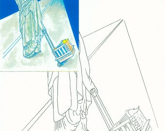 Statue of liberty, Watercolor painting kit
