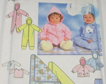 Baby Romper Pattern Simplicity 7807 Babies Romper,Jacket,Pants,Blanket and Knit Top Pattern UNCUT Pattern