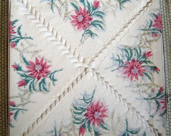 Vintage Luncheon Napkins, Very Unusual and Large made by Crestwick, Inc.