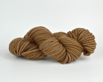 Plant Dyed Yarn Walnut - Bulky Yarn Wool - Eco Dyed Yarn