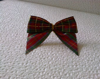 Bow tie Plaid synthetic 9.5 cm long