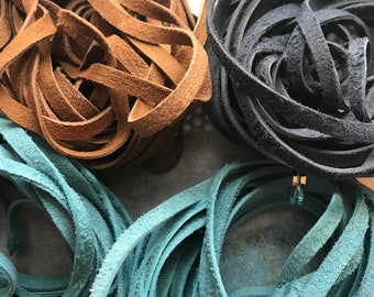 REMNANTS, 5mm suede, Choose colors, Suede lace, suede, 5mm suede lace,leather lace, leather, suede lace cord,  suede, suede lace