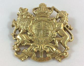 English crest toilet roll holder cast iron lion unicorn coat for Dieu et mon droit royal crest silver plated jewelry box