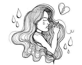 Big Girls Do Cry Illustrated Print