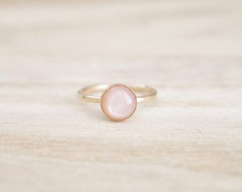 Blush moonstone shimmer stacking ring, blush ring, blush stone, blush gemstone, blush moonstone, moonstone ring, blush rings, boho jewelry