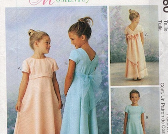 FREE US SHIP Sewing Pattern McCall's 9180 Flower Girl Dress Special Moments Size 2 3 4 Uncut 1998 Out of Print Wedding