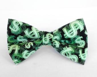 Money Money Money Bow Tie | Superhero | Marvel | Boys Bow Tie | Mens Bow Tie | Dog Bow Tie | Self Tie | Pre-tied | Gifts for Him